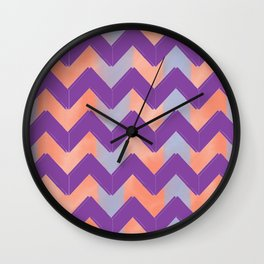 Pastel Chevrons Wall Clock