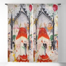 """Florine Stettheimer """"The Cathedrals of Fifth Avenue"""" Blackout Curtain"""