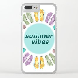 Summer vibes in flip flops Clear iPhone Case