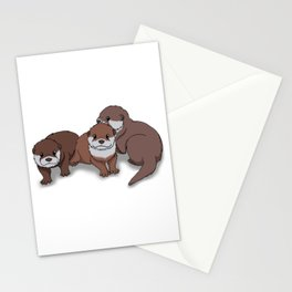 Romp of Baby Otters Stationery Cards