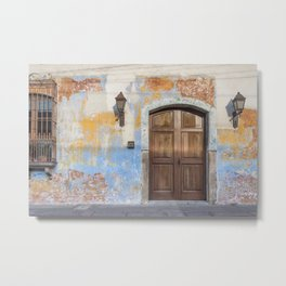 Colonial Façade in Antigua Guatemala Metal Print