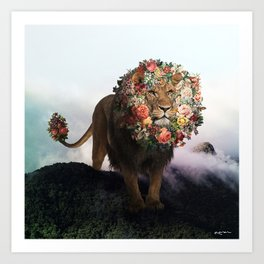 the floral king. Art Print