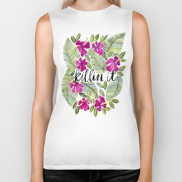 Killin' It – Tropical Pink Biker Tank