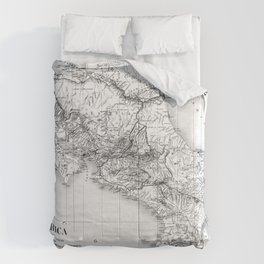 Vintage Map of Costa Rica (1903) BW Comforters
