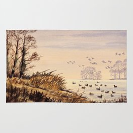 Duck Hunting Times Rug