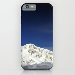 Mount McKinley or Denali (The Great One) in Alaska is the highest mountain peak in North America at iPhone Case