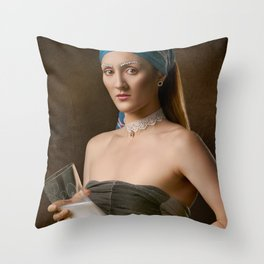 The Milkmaid Throw Pillow