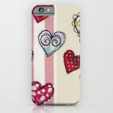 Embroidered Heart Illustration iPhone 6s Slim Case