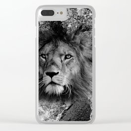 The Fearless Lion Clear iPhone Case