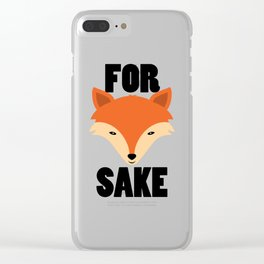 FOR FOX SAKE Clear iPhone Case
