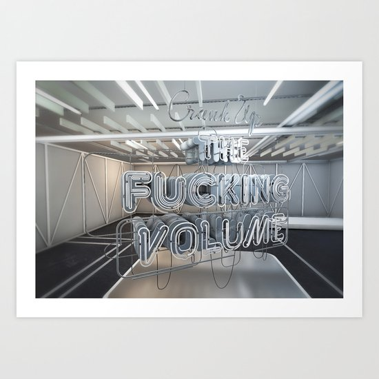 Crank Up The Volume Art Print