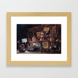 The Junk Shop Framed Art Print