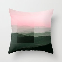 Pink Ridges Throw Pillow
