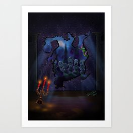 Elliots Scare by Topher Adam 2017 Art Print