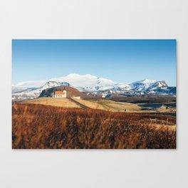 Ingjaldshólskirkja Church, Iceland Canvas Print