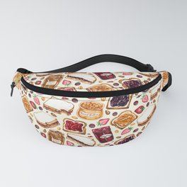 Peanut Butter and Jelly Watercolor Fanny Pack