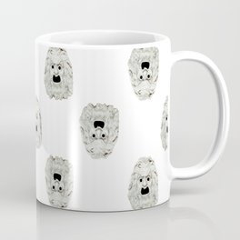 Angry Theater Mask Pattern Coffee Mug