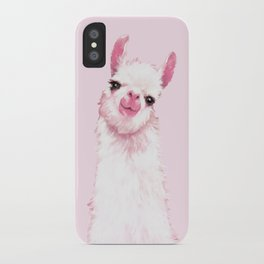 Llama Pink iPhone Case