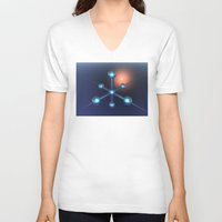 technology V-neck T-shirts featuring Technology In Space by Phil Perkins