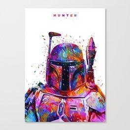 Hunter White Canvas Print