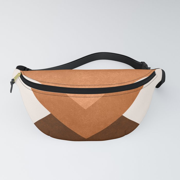 Geometric Blocks in Terracotta Fanny Pack