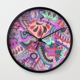 Oodles of doodles Wall Clock
