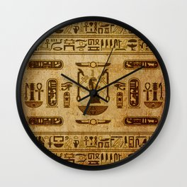 Vintage Egyptian Ornament  Old Papyrus Wall Clock