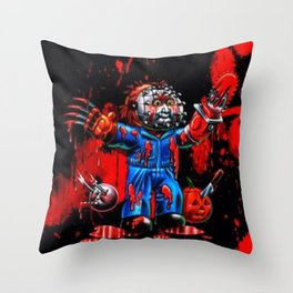 Freddy Of All Faces Throw Pillow