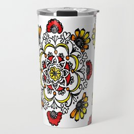 Doodle Mandala Travel Mug