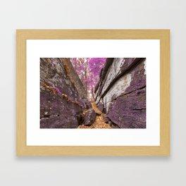 Gettysburg Grotto - Lavender Fantasy Framed Art Print