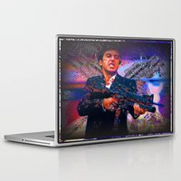 scarface Laptop & iPad Skins featuring scarface by Vector Art