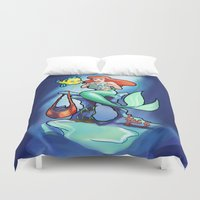 comic book Duvet Covers featuring Comic Book Day by rnlaing
