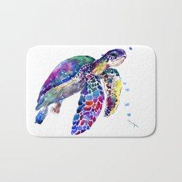 Sea Turtle Rainbow Colors Bath Mat