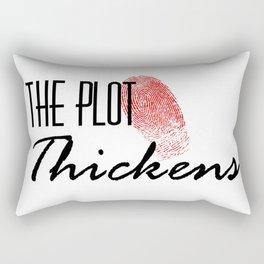 The Plot Thickens Rectangular Pillow