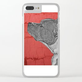 Chuck in Red Clear iPhone Case