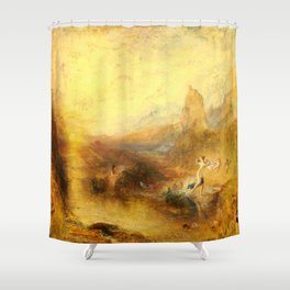Glaucus and Scylla (1841) by J.M.W. Turner Shower Curtain
