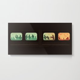 Ground Zero - Zombie Subway Metal Print