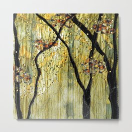 Golden Forest III Metal Print