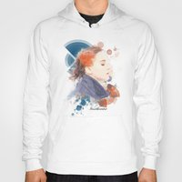 jennifer lawrence Hoodies featuring Jennifer Lawrence (Deco Art) by Rene Alberto