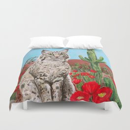 Desert Cat Duvet Cover