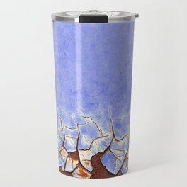 Rust and Blue Travel Mug