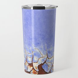 Rust and Blue Travel Mug