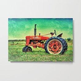 Bold Farmall Tractor Texas Metal Print
