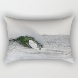 Wave Curling off Fire Island Rectangular Pillow