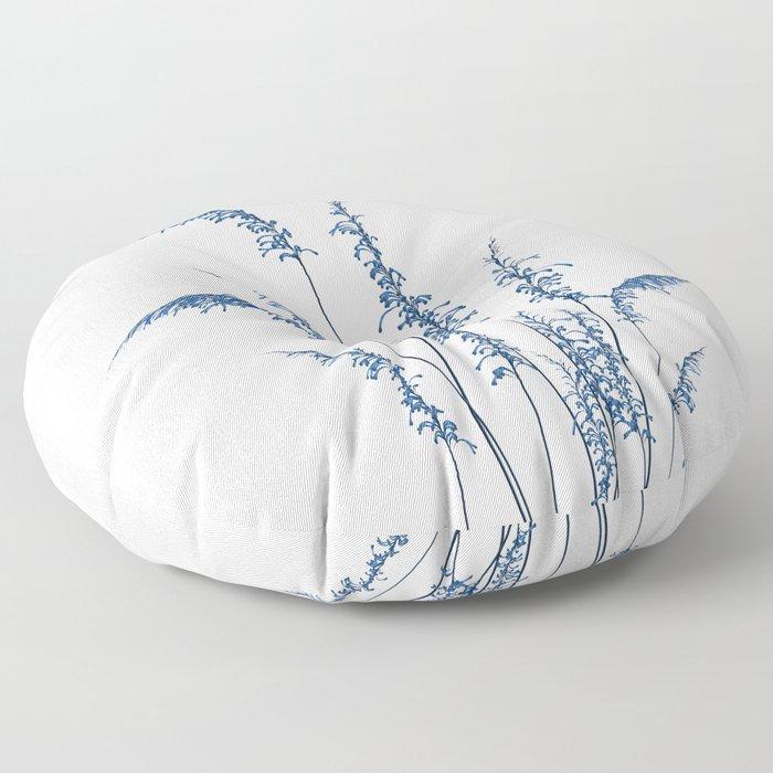 Blue flowers 2 Floor Pillow