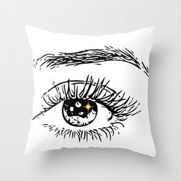 Eye Drawing Throw Pillow
