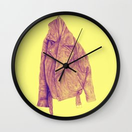 Leather Jacket (Amber) Wall Clock