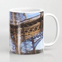 eiffel Mugs featuring Eiffel by Mario Sa