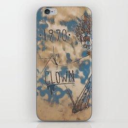 1970 | CLOWN | CLOUDY iPhone Skin