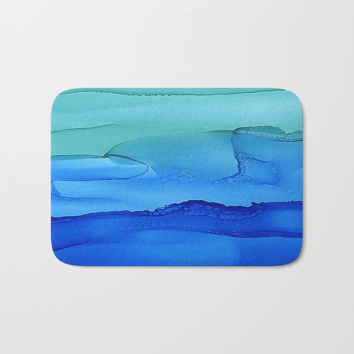 Alcohol Ink Seascape Bath Mat